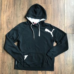 Black Puma Hooded Pullover